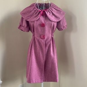 Pink Short Sleeve Coat